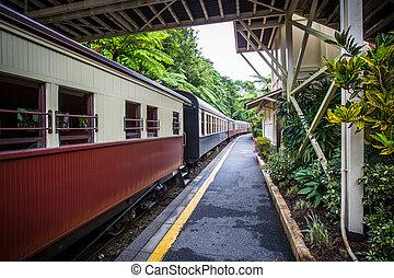 Kuranda Train Station - The iconic Kuranda train station in...