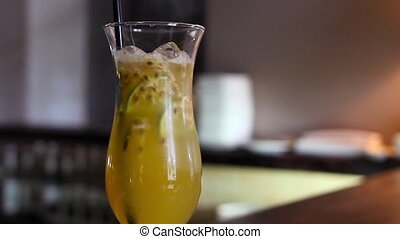 Lemonade with maracuja - Fresh lemonade with passion fruit...