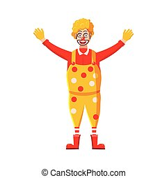 Clown icon in cartoon style - icon in cartoon style on a...