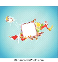 funky frame - Vector illustration of funky styled design...