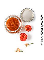 Chilli pepper - Red Hot Carribean scotch bonnet chili pepper