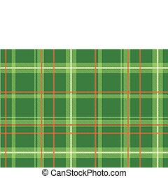 Scottish plaid - Vector illustration of The Scottish plaid...