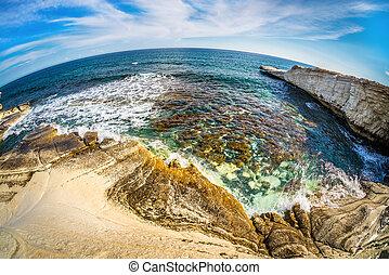 Agios Georgios Alamanos Beach. Limassol District, Cyprus.