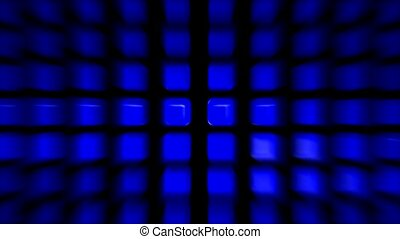 blue rectangle matrix disco pattern - blue rectangle matrix...
