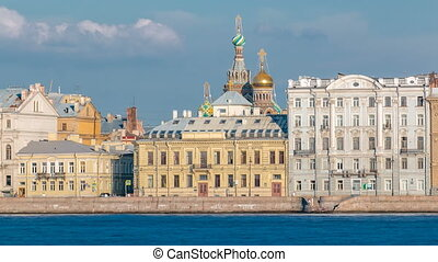 The Palace embankment and Church of the Savior on Spilled...