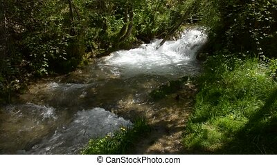 Flow of a Swift Mountain River - Flow of a fast mountain...