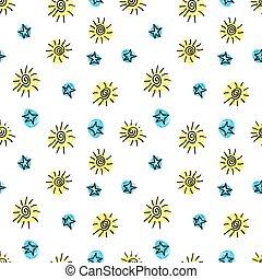 Cute seamless grunge childish pattern