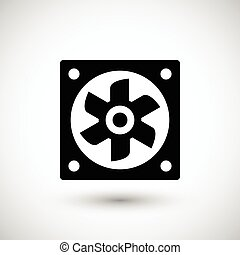 Ventilation fan icon isolated on grey Vector illustration