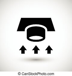 Ventilation duct icon isolated on grey Vector illustration