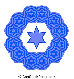 Blue David Star Jewish Symbol of Religion - Blue David Star...