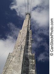 Concrete Stabilizing Tower - Photo of concrete reinforcing...