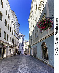 Street in old city, Linz, Austria