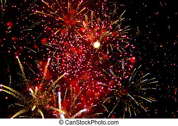 Fireworks Celebration - Photo of fireworks grand finale...