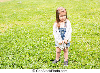 Offended child portrait