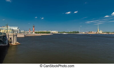 Strelka - Spit of Vasilyevsky Island with the Old Stock...