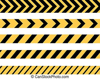 Danger Tape Lines - Vector set of Danger and Police Tape...
