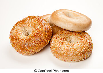 Bagels on white background - Bagels isolated on white...
