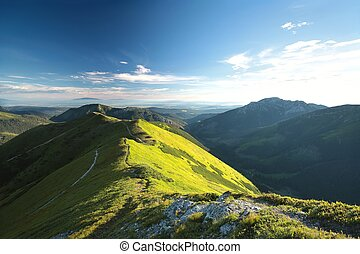 Tatra Mountains - Peaks in Tatra Mountains on the...