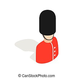 Royal guardsman icon, isometric 3d style - Royal guardsman...