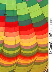 Hot air balloon, close-up - close up of the different colors...
