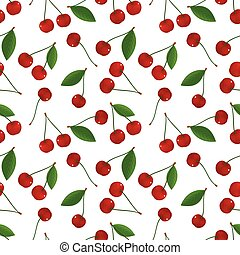 Seamless pattern with cheries - Seamless pattern of fresh,...