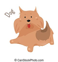 Dog isolated Sticker for kids Child fun icon - Dog isolated...