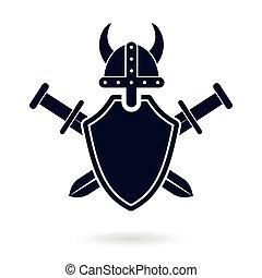 viking shield sword