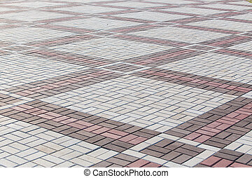 slabs of rhombic form for background - paving slabs of...