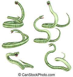 Snake-Pit Viper - 3D Render of an Snake-Pit Viper