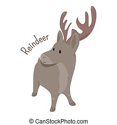 Reindeer isolated Child fun pattern icon - Reindeer isolated...