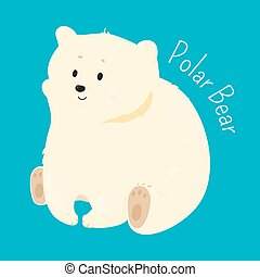 Polar bear isolated. Child fun pattern icon. - Polar bear...