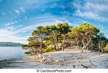 Beautiful Nature Of Calanques On The Azure Coast Of France -...