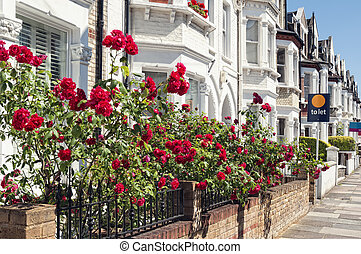Row of Typical English Terraced Houses at London