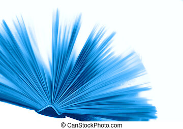 Blue book - Overexposed big blue book with hard cover at...