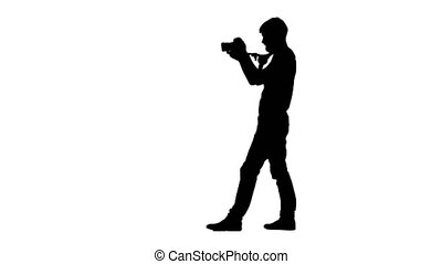 Silhouette operator rotates 180 degrees during shooting....
