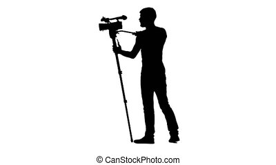 Operator is in full growth and working with the camera - The...