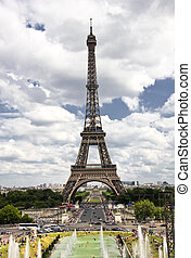 Eiffel tower,Paris ,France - Famous and beautiful Eiffel...
