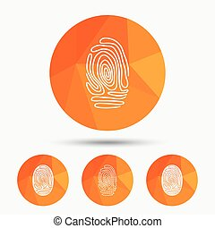 Fingerprint icons Identification signs - Fingerprint icons...
