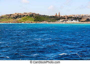 Port of Mgarr on the small island of Gozo, Malta. Place for...
