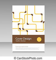 Abstract piping pattern Cover design
