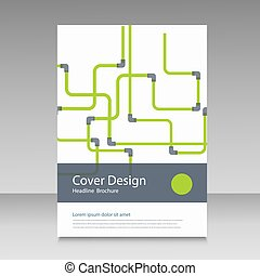 Abstract piping pattern. Cover design.