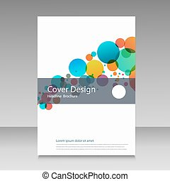Abstract color circles. Cover design template.