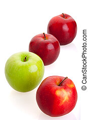 3 red and 1 green apples