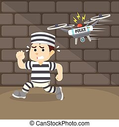 drone capture the escaped convict