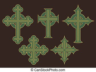 Celtic Cross Vector Designs - Set of six vector...