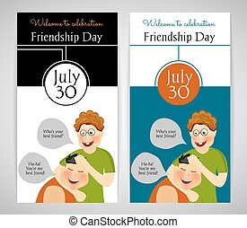 Friendship Day International holiday Two template Flyer,...