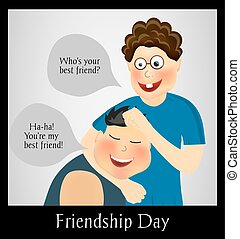 Friendship Day International holiday Two best friends Funny...