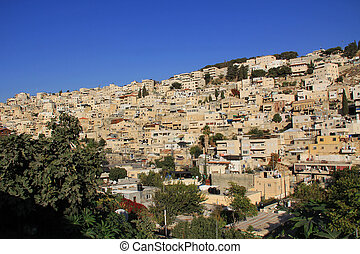 Homes on a Hillside in Jerusalem - Homes on a hillside in...