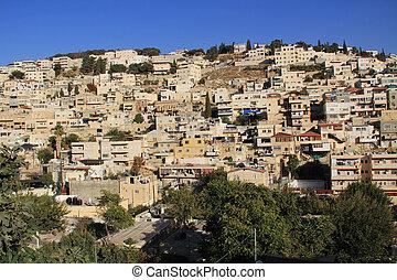 Homes on a Hillside in Jerusalem - Homes on a hillside in...