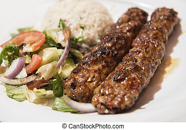 Turkish Traditional Adana Kebab - Turkish Traditional Minced...